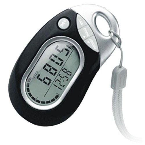 SUKEQ 3D Tri-Axis Sport Activity Pedometer, 3D Sensor Pedometer, Walking Distance Miles, Calorie Counter, Step Counter Timer