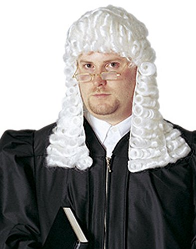 Deluxe White Colonial Judge Wig