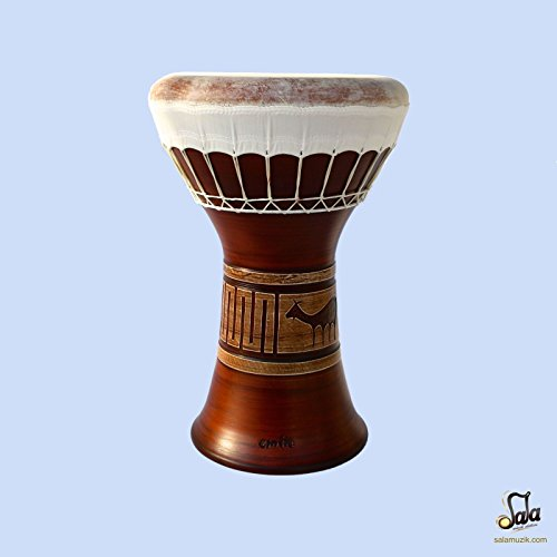 Professional Clay Ceramic Solo Darbuka Drum By Emin Percussion Doumbek EP-004-A by Sala Muzik