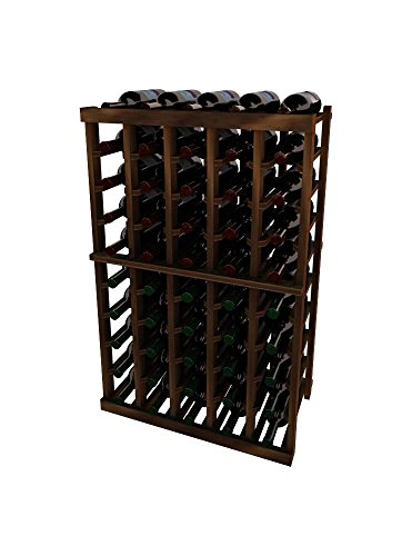 Vintner Series Wine Rack – 5 Column – 3 Ft – Mahogany Dark Walnut Stain