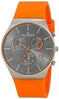 Skagen Men's SKW6074 Balder Quartz/Chronograph Titanium Orange Watch by Skagen