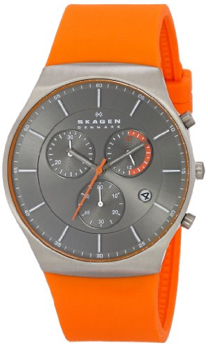 Skagen-Mens-SKW6074-Balder-Orange-Titanium-Silicone-Watch
