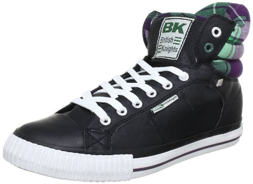 British Knights Atoll, Men's High Top Schwarz (Black/Purple 4)