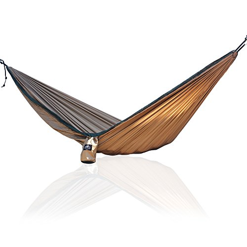 erson Compact Nylon Camping Hammock With Straps & Steel Carabiners | Portable, Strong, Lightweight | Fits in backpack | Ideal for Day Hiking, Hunting, Fishing (Khaki & Olive) (Butt Pack Khaki)