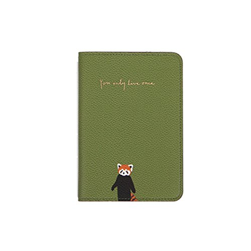 Passport Package,IEason Clearance Sale! Cute Little Fresh Flora And Fauna Travel Passport Holder Passport Package (Green)