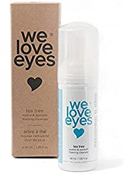 All Natural Tea Tree Eyelid Foaming Cleanser/Wash - We Love Eyes - Blepharitis, Demodex, Dry Eyes Relief and treatment, Wash Eyelashes, Reduce Itching and Inflammation, Paraben & Sulfate Free - 40 ml