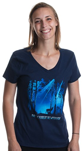 May the Forest be with You | Hiking, Nature, Outdoors Ladies' V-neck T-shirt
