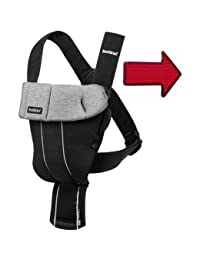 Baby Bjorn Original Infant Baby Carrier Cotton Jersey - Black Granite with BONUS Safety Reflector BOBEBE Online Baby Store From New York to Miami and Los Angeles