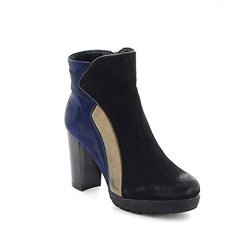 Misstic de Mujer Botas azul Lona negro qF6Tqn