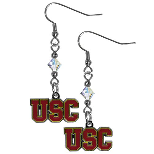 Siskiyou NCAA USC Trojans Crystal Dangle Earrings