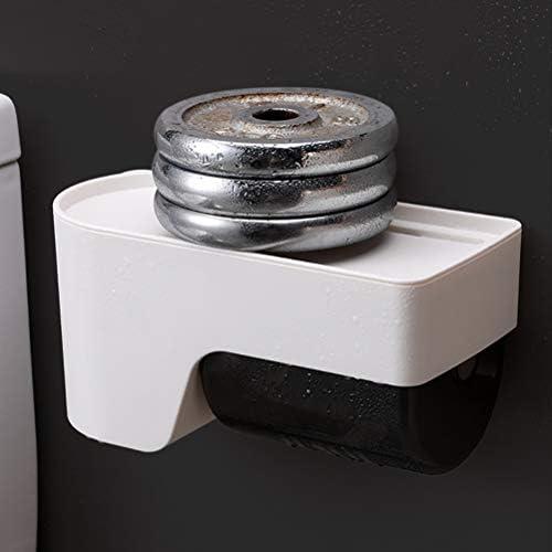 バスルーム防水トイレットペーパーホルダー、パンチフリートイレクリエイティブティッシュボックス、家庭用壁掛けペーパーボックス、ホテルショッピングモールオフィスビル学校および銀行用