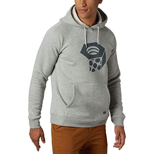 (Mountain Hardwear Logo Pullover Hoodie - Men's Heather Grey Ice, XL)