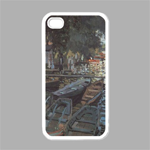 Bathers At La Grenoullišre By Claude Monet White iPhone 4 - iPhone 4S Case