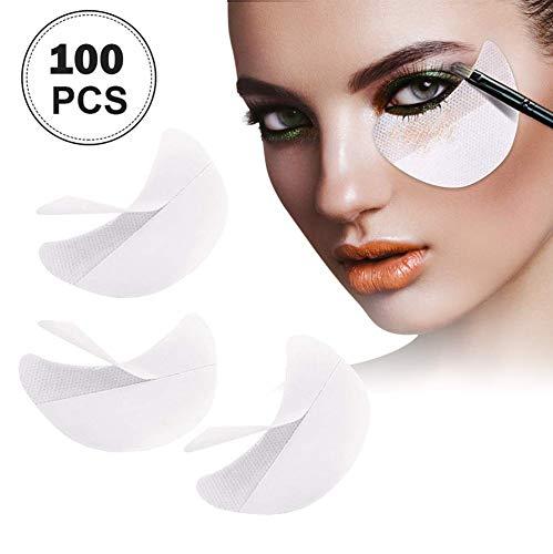 Eyeshadow stencils 100 Pcs Eye Shadow Shields Eye Makeup Pads for Eyelash Extensions or Lip Makeup(White)