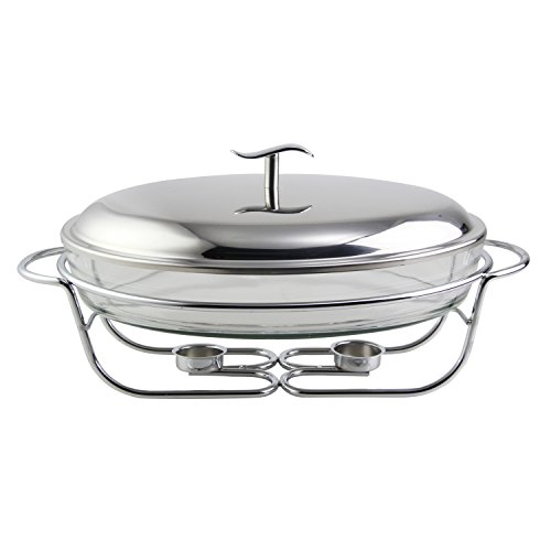 Riwendell Stainless Steel Glass container Fish Cookers (Oval-3.0L)