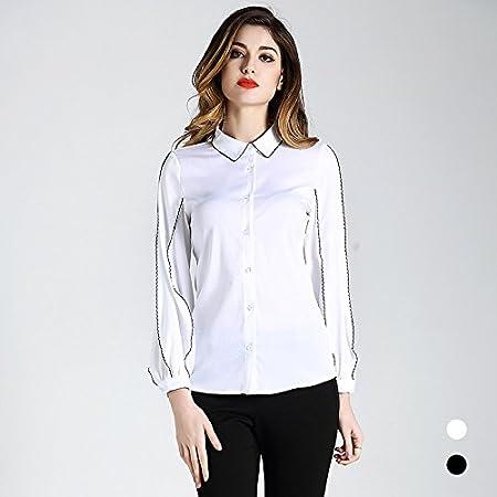 Mayihang Blusa Camisa La camisa blanca camisa blanca de seda ...
