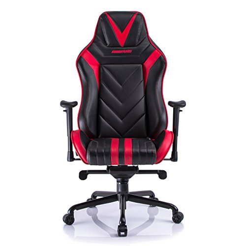 410yzM8ep9L - Aminiture Big and Tall Gaming Chair Red, High Back Recliner Chair,Fabric Computer Chair,Swivel Office Chair with Lumbar Support