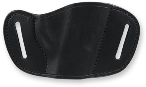 Bulldog Cases Black Molded Leather Belt Slide Holster (Large)