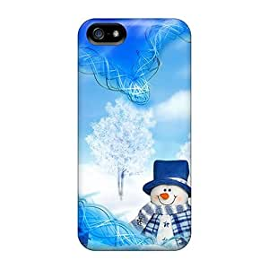 New Snap-on Luoxunmobile333 Skin Cases Covers Compatible With HTC One M7 Snowmans Christmas Dreams