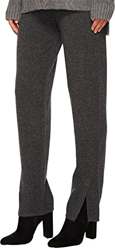 Cashmere In Love Women's Tina Straight Fit Knit Pants Grey Large by Cashmere In Love (Image #1)