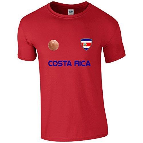 EBUK Costa Rica Copa del Mundo 2018 Fútbol Retro Informales Camiseta Hombre No Oficial - Rojo