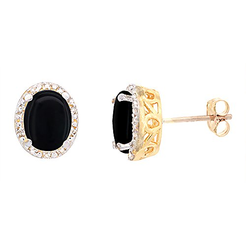 Yellow Gold Oval Onyx - 2