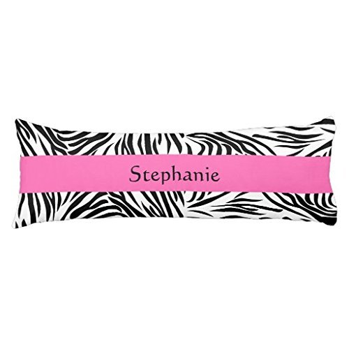 - UTF4C Personalized Black and White Zebra Print with Hot Pink Body Pillow Covers 20 x 54 Decorative Body Pillow Cover Case for Bed,Home Decorative