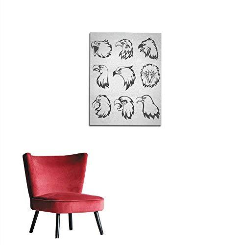 - longbuyer Photo Wall Paper Hawk Falcon or Eagle Head Mascot Set Vector Illustration Mural 32