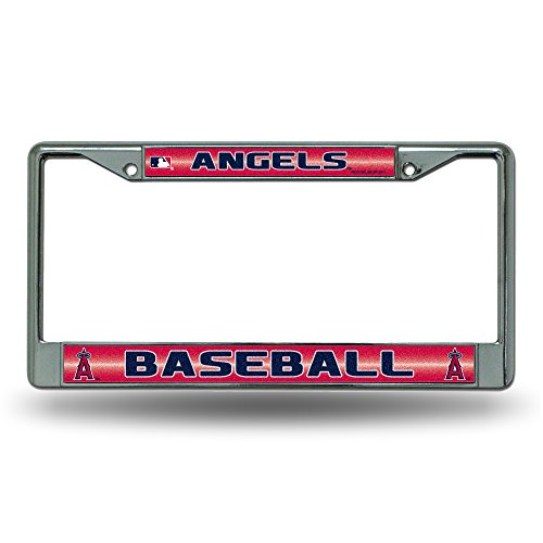 fan products of MLB Los Angeles Angels Bling Chrome Auto License Plate Frame