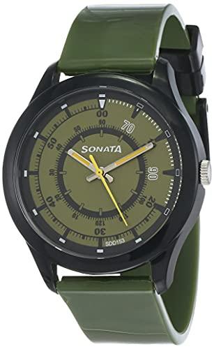 SF Economy Analog Green Round Dial Men #39;s Sport Watch NM77007PP01