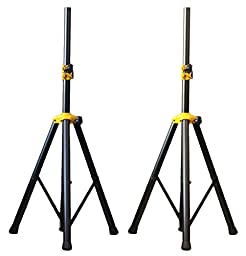 Pair of Ignite Pro Deluxe Series Heavy Duty Tripod DJ PA Speaker Stands Adjustable Height
