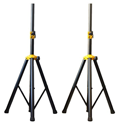 Pair of Ignite Pro Deluxe Series Heavy Duty Tripod DJ PA Speaker Stands Adjustable Height by Ignite Pro