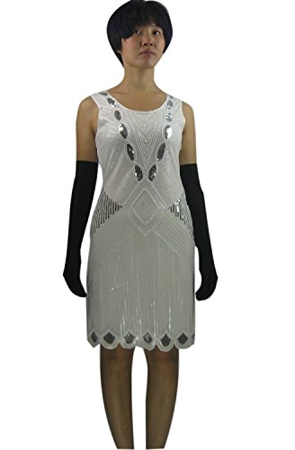 Fashion 20s 1920s Great Gatsby Flapper Inspired Style Event Parties Dresses (1920s Gangster Fashion)
