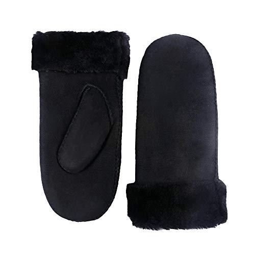 YISEVEN Women's Merino Rugged Shearling Winter Leather Mitten