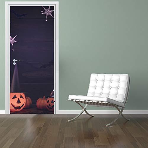 ZJING 3D Simulation Door Stickers Halloween Decoration Creative