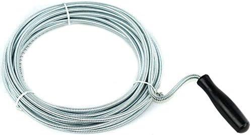 Mediawave storeSturalavandino 714144 a molla flessibile 5mm x 7mt con manico girevole e spirale Sturatubi a Molla per Scarichi Lavandini e Docce Ostruite e Intasate