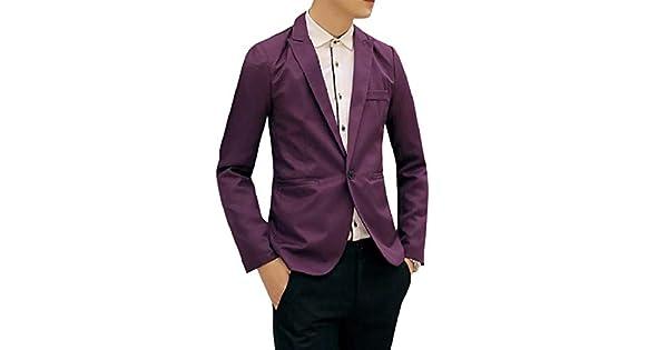 Amazon.com: Coolred-Men Fit Fashion - Abrigo para chaqueta ...