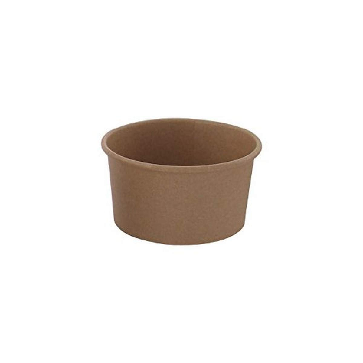 Kraft Brown Paper to-Go Bucket Storage Container (Case of 50), PacknWood - Meal Prep Containers with Optional Clear Plastic Lids (6.5 oz, 3.7