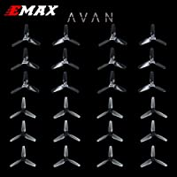 24PCS Emax 3 inch 3-Blades Propeller CW CCW, Durable PC Material for Babyhawk for 1104 1105 1106 Brushless Motor FPV Racing Drone Quadcopter by Crazepony(Clear&Clear Black)