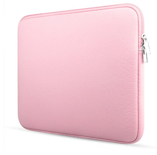 Bonamana 11 Inch /13inch /15inch Portable Sleeve Case Protector Skin Bag Pouch For MacBook Ultrabook Ipad Air eReader (13inch, Pink)