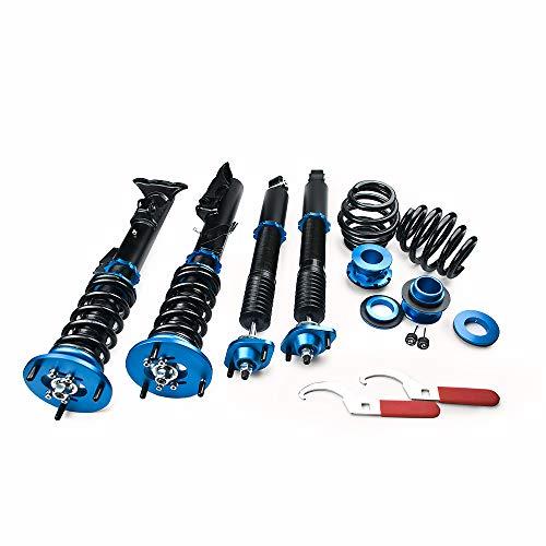 (Mono Tube Coilover Fits BMW 3-Series E36 318 323 325 328 Shock Strut Damper Mono Tube 36 Ways Adjustable)