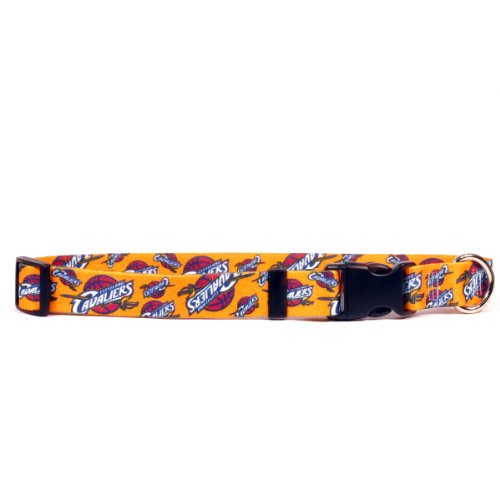 Yellow Dog Design Cleveland Cavaliers 18-Feet to 28-Feet Collar, Large
