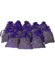 أكياس اللافندر - أكياس أكياس أكياس أكياس زهور اللافندر المجففة (20 قطعة) للعطر المنزلي والروائح المنعشة طويلة الأمد، ففواه طبيعية بعيدًا للخزانات الملابس. ملابس حماية وملابس الدفاع