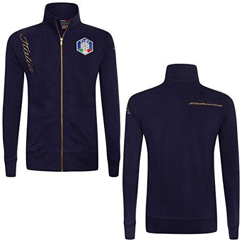 Kappa Italia equipo nacional de forro polar el sudor con cierre completa en algodón de esquí Fisi, Marino, XX-Large
