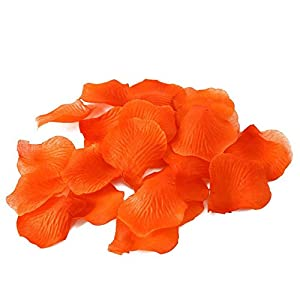 Olymstore(TM) 2000 Pcs Silk Rose Petals Artificial Flowers Wedding Party Favors Decoration Orange 113