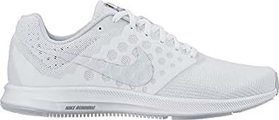 Nike Women's Downshifter 7 White/Pure Platinum Running Shoe 11 Women US