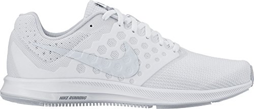 Nike Womens Downshifter 7 Running Shoe White/Pure Platinum (9.5)