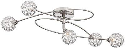 "Possini Euro Orella 28 1/2"" Wide Brushed Steel Ceiling Light"