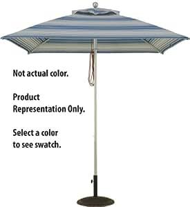 Heavy Duty Commercial Aluminum Market Umbrella (4 Rib Square 7.5 foot Width, Cardinal Red)