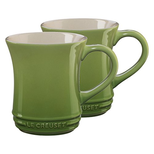 Le Creuset Palm Stoneware 14 Ounce Tea Mug, Set of 2 2 Tea Mugs
